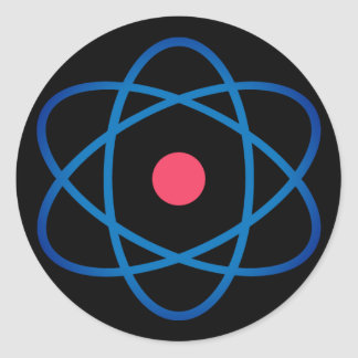 Simple Emoji Atom Classic Round Sticker