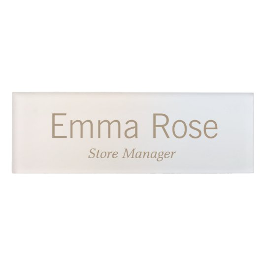 Simple  Employee Staff Magnetic Name Tag Badge