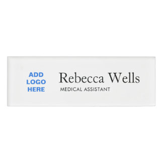 Simple Employee Staff Name Logo Badge Name Tag