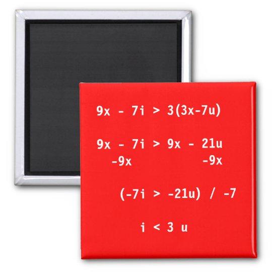 Simple Equation Square Magnet