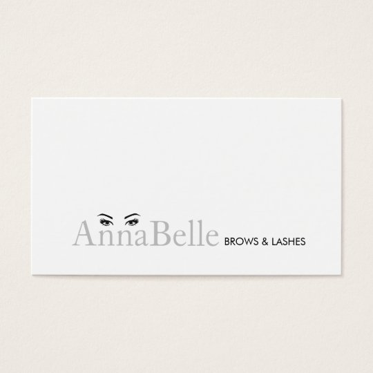 Simple Eyelash Extensions and Brow Specialist Business Card