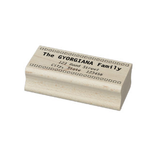 Simple Family Last Name and Address Rubber Stamp