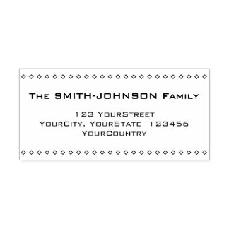 Simple Family Last Name and Address Self-inking Stamp