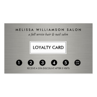 Simple Faux Silver Customer Loyalty Punch Card Pack Of Standard Business Cards