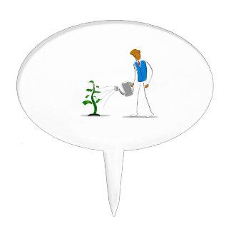 simple figure watering money tree.png cake picks