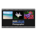 Simple Film Strip Background for Photographer Pack Of Standard Business Cards