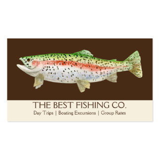 Simple Fishing Charter Boat Guide Business Fish Double-Sided Standard Business Cards (Pack Of 100)