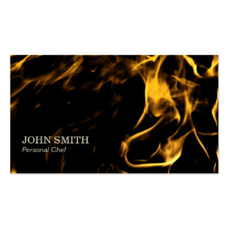 Simple Flaming Fire Personal Chef Double-Sided Standard Business Cards (Pack Of 100)