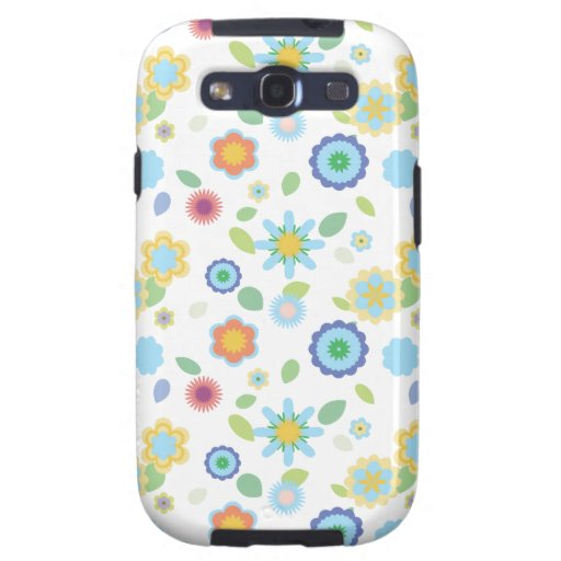 Simple Floral-blue Galaxy SIII Case