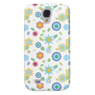 Simple Floral-blue Samsung Galaxy S4 Case