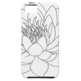 Simple Floral Lotus iPhone 5 Case