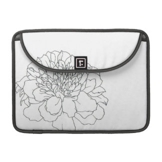 Simple Floral Marigold MacBook Pro Sleeves
