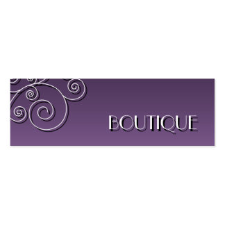 Simple floral pattern - women's fashion boutique Double-Sided mini business cards (Pack of 20)