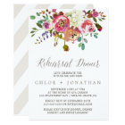 Simple Floral Watercolor Bouquet Rehearsal Dinner Card