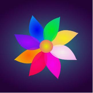 Simple Flower Art Dark Standing Photo Sculpture