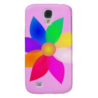 Simple Flower Art Pink Mist Samsung Galaxy S4 Case
