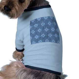 Simple Flower Pattern in Light Blue Dog Tshirt