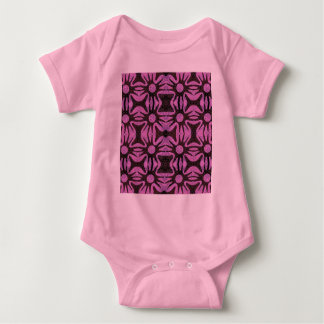 simple flower repeat baby bodysuit