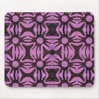 simple flower repeat mouse mat