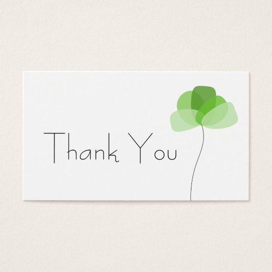 Simple flower Thank You Business Card