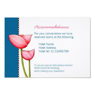 "Simple Flowers blue 2 Wedding Enclosure Card 3.5"" X 5"" Invitation Card"