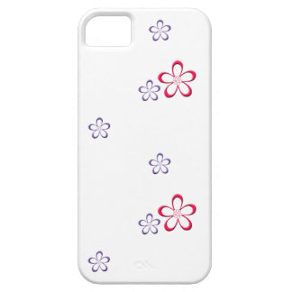 Simple Flowers in Pink and Purple iPhone 5 Cases