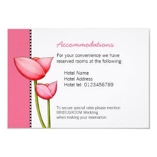 Simple Flowers pink 2 Wedding Enclosure Card 9 Cm X 13 Cm Invitation Card