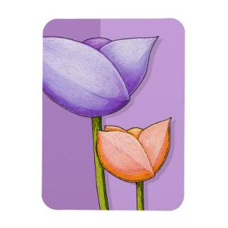Simple Flowers purple orange Premium Magnet