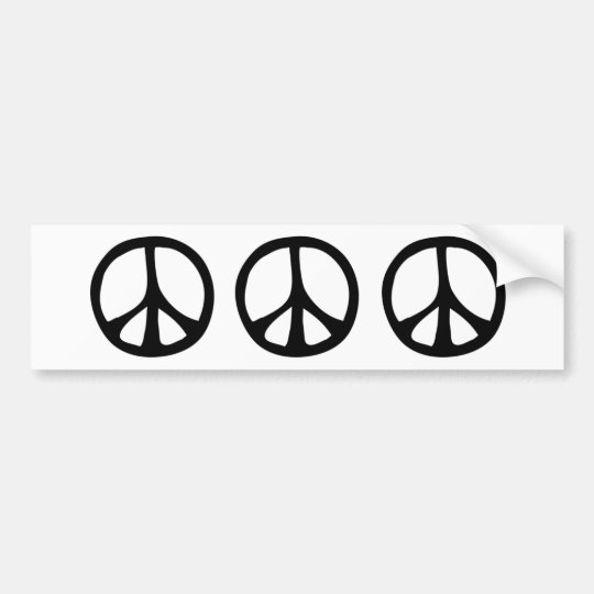 Simple Flowing Peace Sign Bumper Sticker