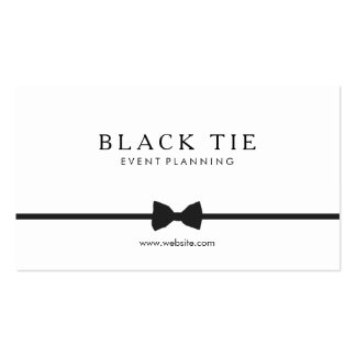 Simple Formal Black Tie Event Planner Pack Of Standard Business Cards
