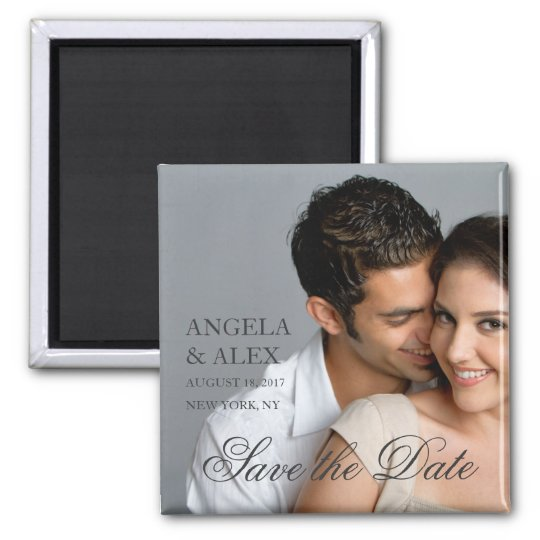 SIMPLE FORMAL PHOTO SAVE THE DATE MAGNETS