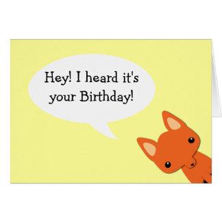 Simple Fox Birthday card