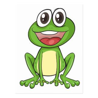 Simple frog postcard