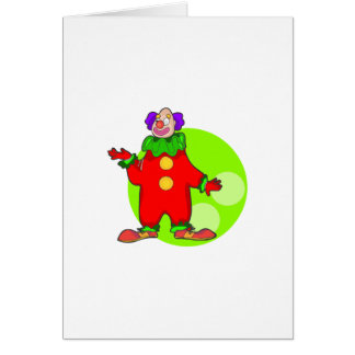 Simple Funny Clown Greeting Card