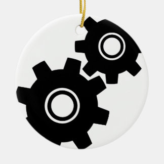 SImple Gears Cogs Christmas Ornament