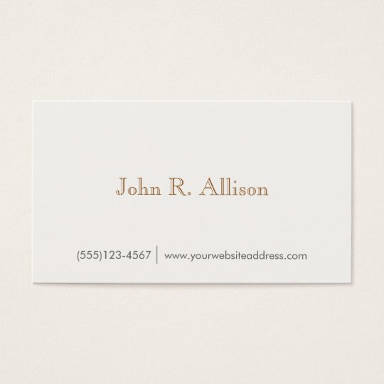 Simple Gentleman's Vintage Wood Backside Business Card