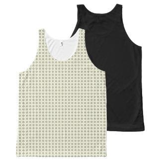 Simple geometric pattern black All-Over print tank top