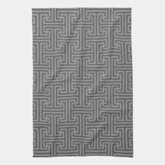 Simple geometric shapes tea towel