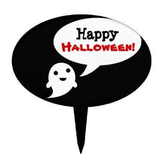 Simple Ghost speech bubble halloween Cake Picks