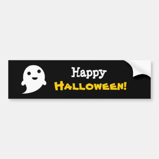 Simple Ghost Speech Happy halloween Bumper Stickers