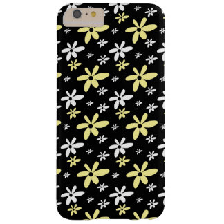 Simple Girly Ditsy Floral Pattern : Black Barely There iPhone 6 Plus Case