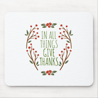 Simple Give Thanks Thanksgiving | Mousepad