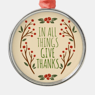 Simple Give Thanks Thanksgiving | Ornament