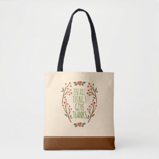 Simple Give Thanks Thanksgiving | Tote Bag