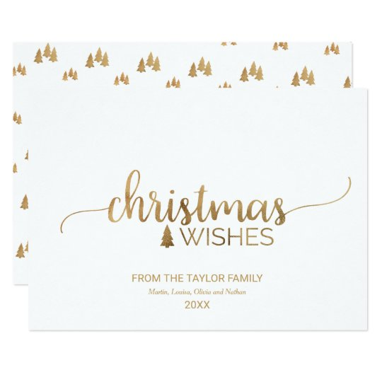 Simple Gold Calligraphy Christmas Card
