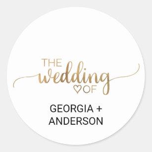 Simple Gold Calligraphy Wedding Envelope Seal