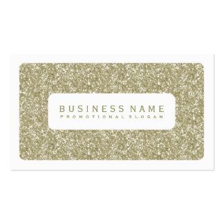 Simple Gold Glitter Business Card Templates