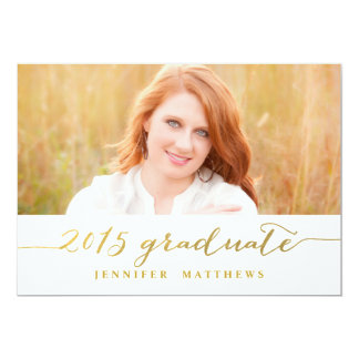 Simple Gold | Graduation Party Invitation