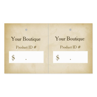 Simple Gold Grunge Modern Boutique Hang Tags Pack Of Standard Business Cards