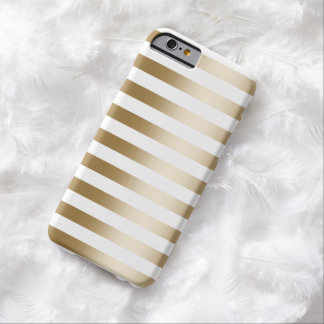Simple Gold Stripes iPhone 6 Case Barely There iPhone 6 Case